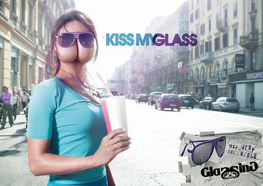 Glassing Sunglasses: Kiss my glass