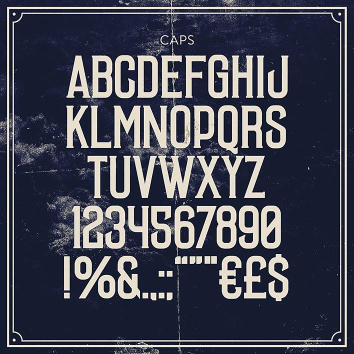 Винтажный шрифт Laudanum